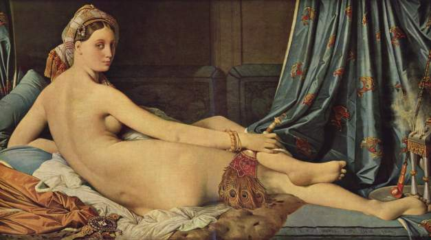 la_gran_odalisca de Ingres 1814