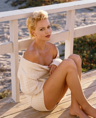 HERB RITTS Charlize Theron, Malibu 1997_tn